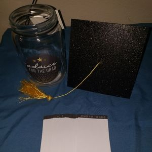 Unknown Other - Graduation advice jar with 50 blank advice cards
